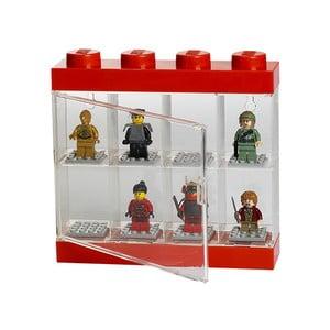 Červenobílá sběratelská skříňka na 8 minifigurek LEGO®