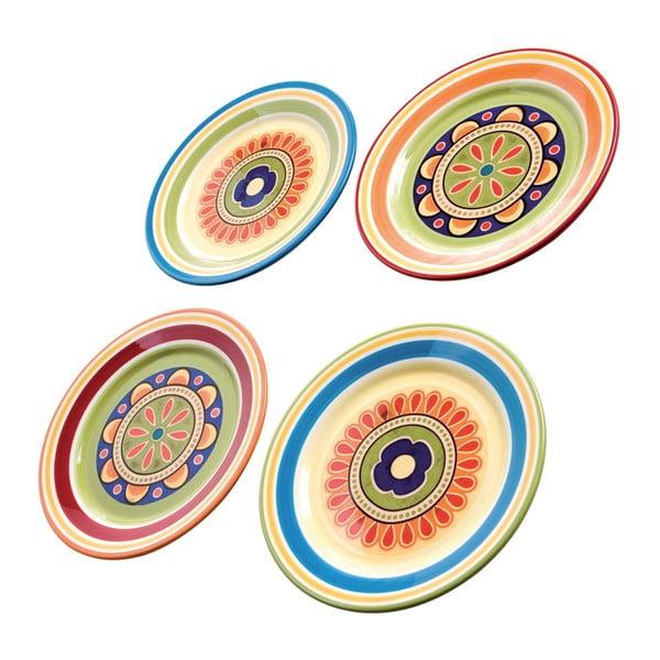 Színes köretes tányérkészlet, 4 részes, ⌀ 22 cm - Brandani