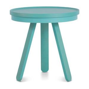 Batea S kékeszöld kőrisfa dohányzóasztal tálcával - Woodendot