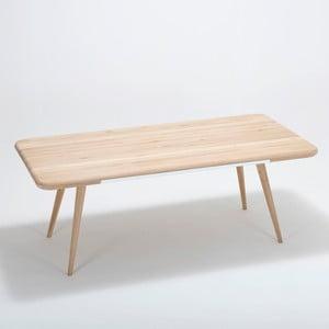Ena étkezőasztal tömör tölgyfa szerkezettel és fiókkal, 200 x 100 cm - Gazzda