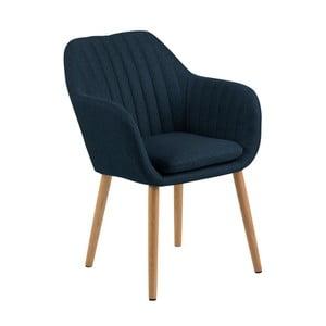 Tmavě modrá jídelní židle Actona Emilia