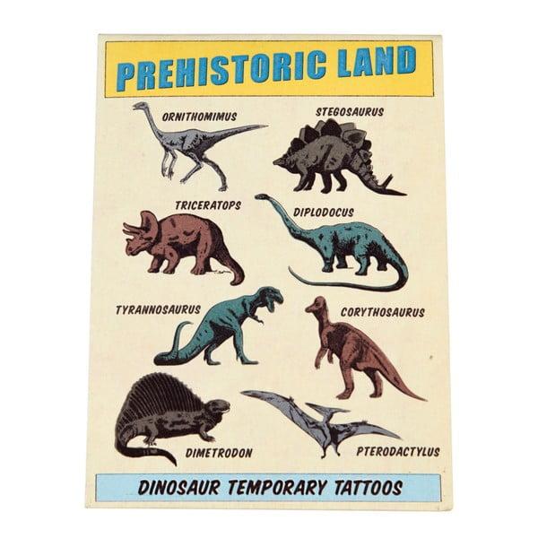 Prehistoric Land lemosható tetoválás szett, 2 lap - Rex London