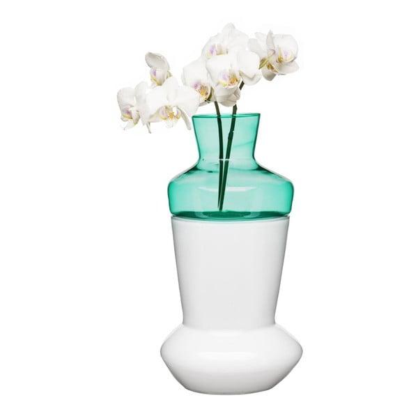 Duo kétrészes fehér-türkiz váza - Sagaform