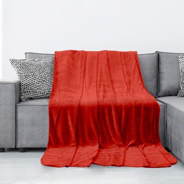 Tyler piros mikroszálas takaró, 70 x 150 cm - AmeliaHome