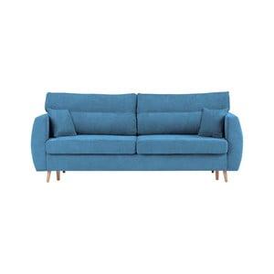 Sydney háromszemélyes kék kinyitható kanapé tárolóval, 231 x 98 x 95 cm - Cosmopolitan design