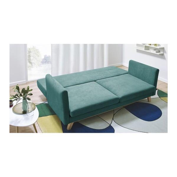 Triplo kék háromszemélyes kinyitható kanapé - Bobochic Paris