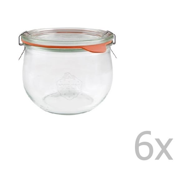 Tulpe 6 db-os befőttesüveg készlet, 580 ml - Weck