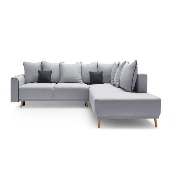 Mola L szürke kinyitható kanapé, jobb oldali kivitel - Bobochic Paris