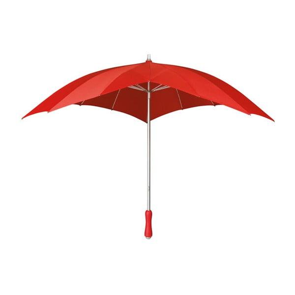 Heart piros szívalakú esernyő, ⌀ 107 cm - Ambiance