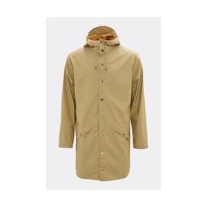 Béžová unisex bunda s vysokou voděodolností Rains Long Jacket, velikost S/M
