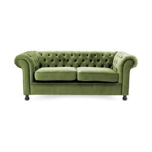 Chesterfield zöld háromszemélyes kanapé - Vivonita
