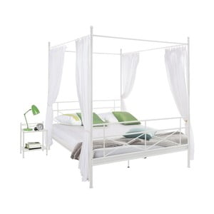 Tanja Canopy fehér fém ágy, 140 x 200 cm - Støraa