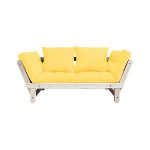 Beat Natural/Yellow kinyitható kanapé - Karup Design