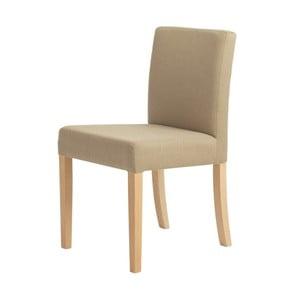 Wilton bézs szék, natúr fa lábakkal - Custom Form