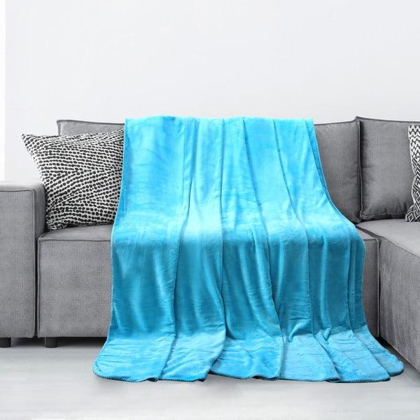 Tyler türkiz mikroszálas takaró, 170 x 200 cm - AmeliaHome