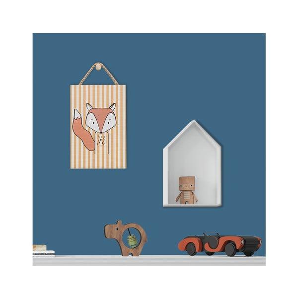 Róka mintás fali dekoráció, 20 x 30 cm - KICOTI