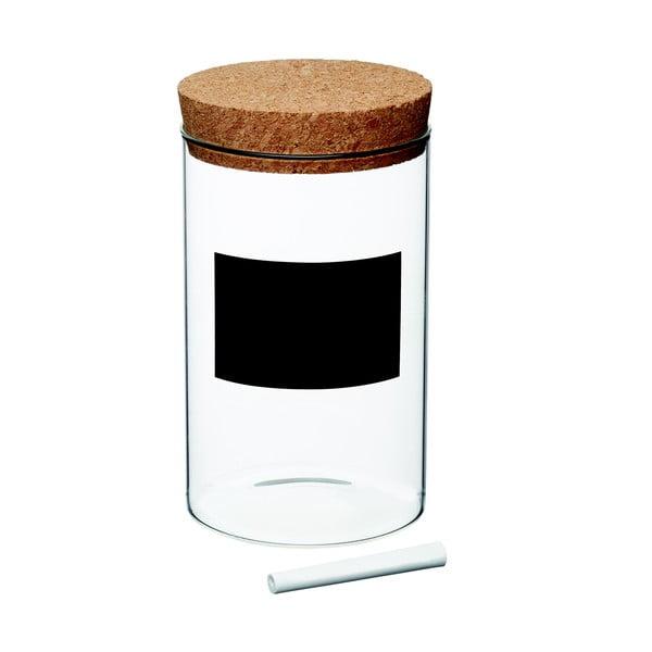 Natural Elements tárolóedény írható cédulával, magasság 18 cm - Kitchen Craft