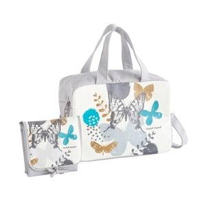 Butterfly szürke pelenkázó táska szett 86173d9f75