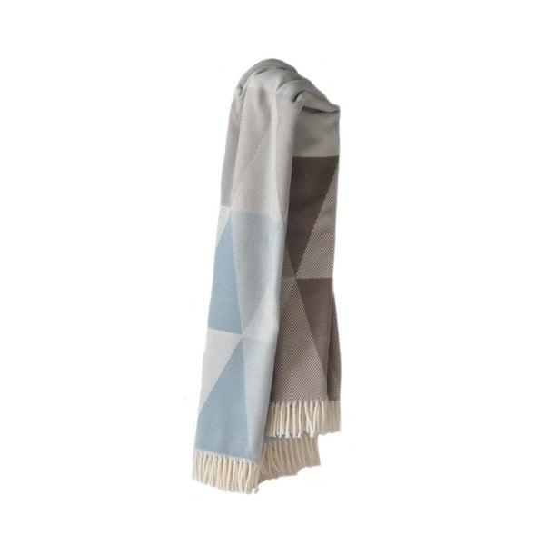 Piza kék pamutkeverék pléd, 140 x 180 cm - Euromant
