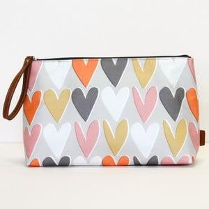 Layered Hearts Wristlet Cosmetic Bag piperetáska - Caroline Gardner