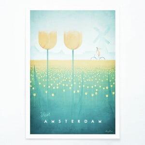Amsterdam poszter, A3 - Travelposter