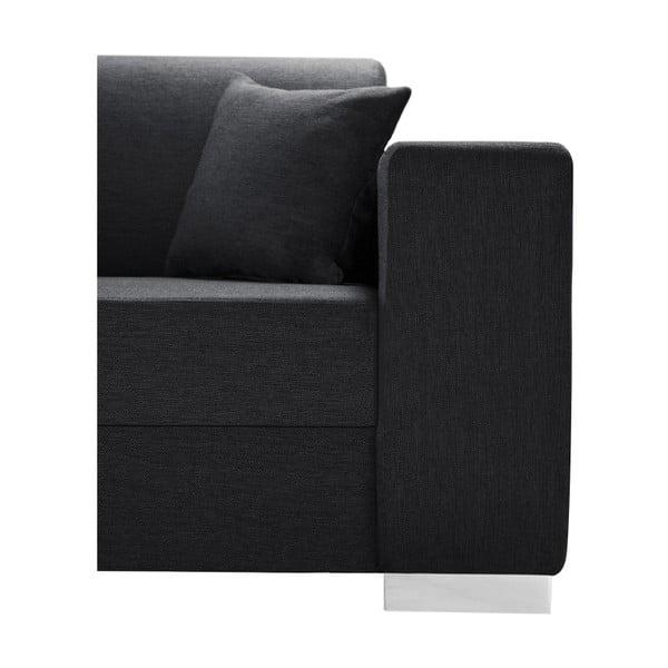 Perle antracit kanapé, bal oldalas - Interieur De Famille Paris