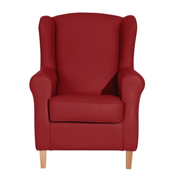 Lorris Leather Chili piros füles fotel - Max Winzer