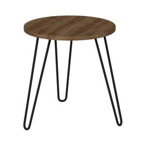 Beren fa mintás kisasztal