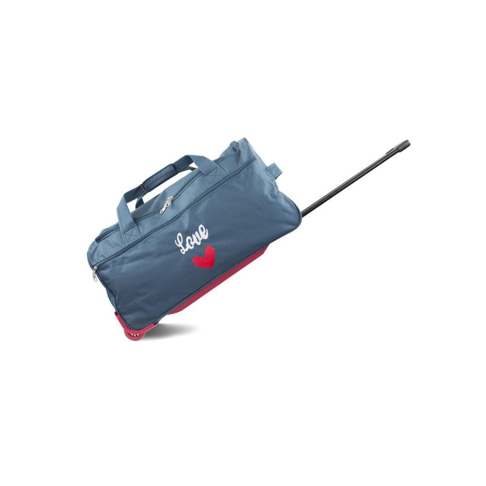 2f5eba559e9c Ascot kék gurulós utazótáska, 41 l - Infinitif | Bonami