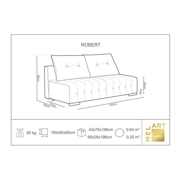 Robert sötétzöld háromszemélyes kinyitható kanapé ágyneműtartóval - Melart
