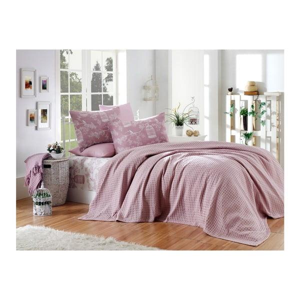 Sötét rózsaszín pamut egyszemélyes ágyneműhuzat garnitúra, 160 x 240 cm - Unknown
