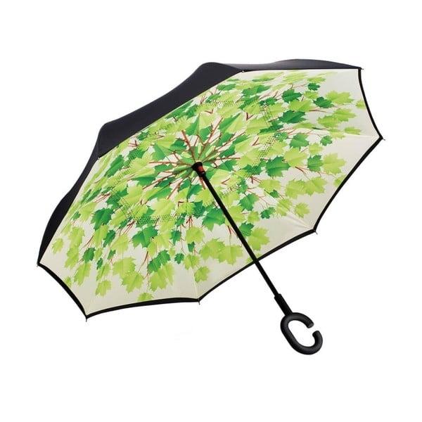 Leaves zöld-fekete esernyő, ⌀ 105 cm