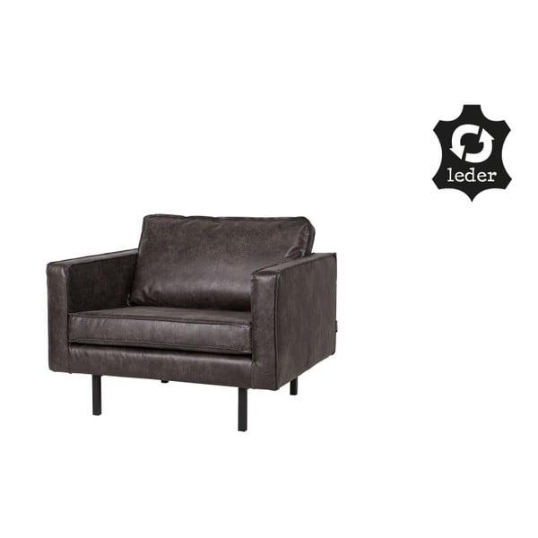 Rodeo fekete fotel újrahasznosított bőrből - BePureHome