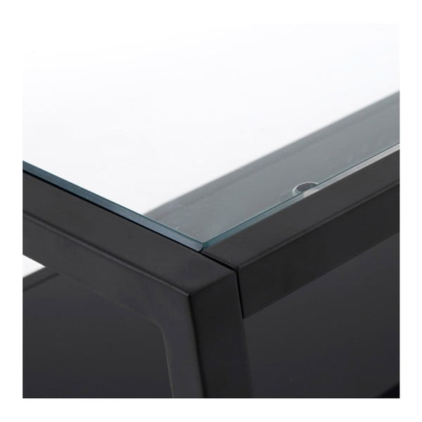Green Hill fekete dohányzóasztal, 80 x 80 cm - La Forma