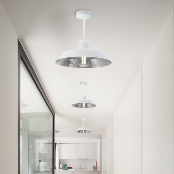 Cinco Basic fehér és ezüstszínű mennyezeti lámpa - Bulb Attack