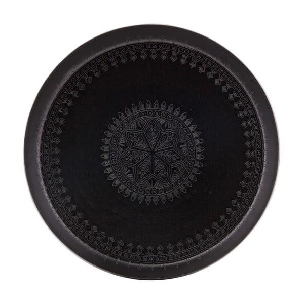 Waitress fekete dekorációs tálca, ø 55 cm - BePureHome