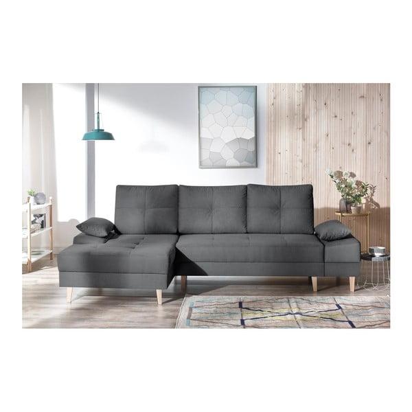 SVEN II sötétszürke kinyitható kanapé, bal oldali kivitel - Bobochic Paris