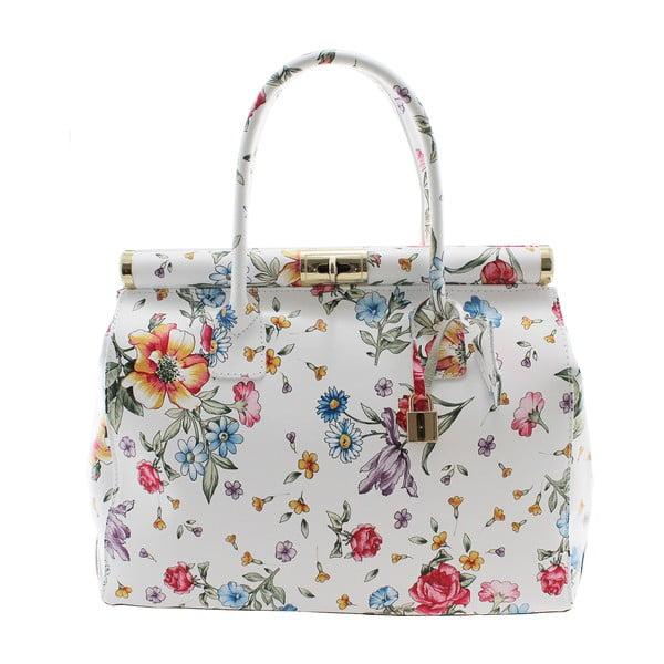Daisy virágmintás bőr kézitáska - Chicca Borse
