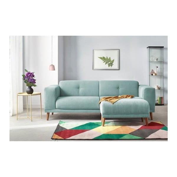 Luna pasztellkék háromszemélyes kanapé lábtartóval - Bobochic Paris