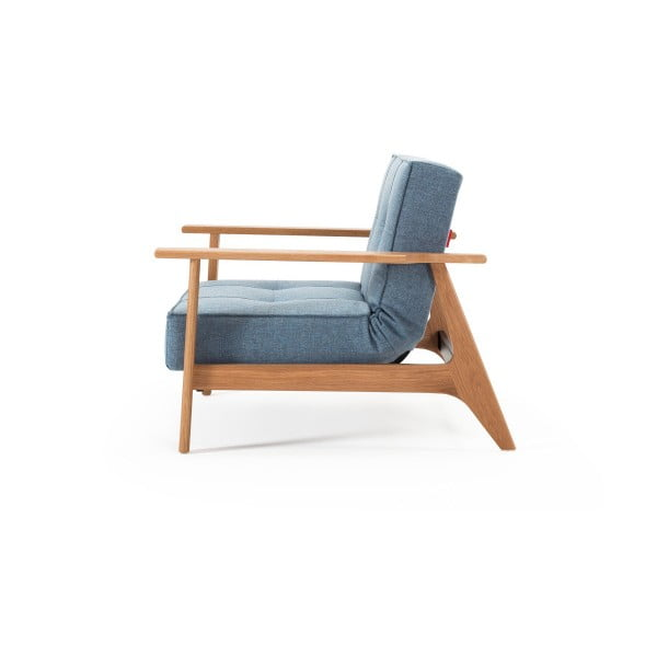 Splitback Frej Mixed Dance Light Blue világoskék kinyitható fotel - Innovation
