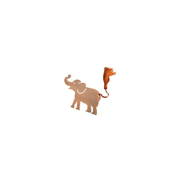 Lucky Elephant elefánt alakú fém könyvjelző - Just Mustard