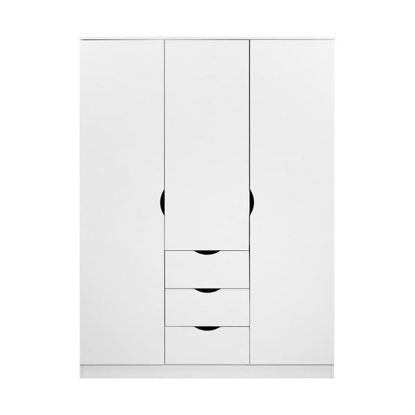 Letty fehér fa ruhásszekrény - Artemob
