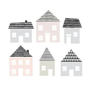 Little Town 6 db-os falmatrica szett - Dekornik