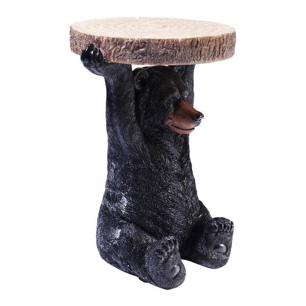 Mini Bear állat alakú tárolóasztal, ⌀ 35 cm - Kare Design