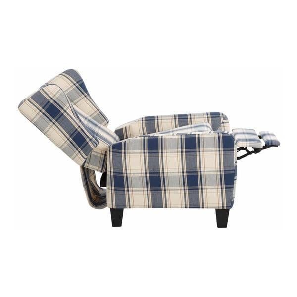 Aladdin kék-kockás széthúzható fotel - Støraa