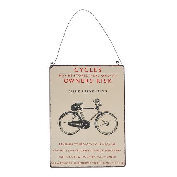 Bicycle retró biciklis falitábla, 17 x 23 cm - Rex London