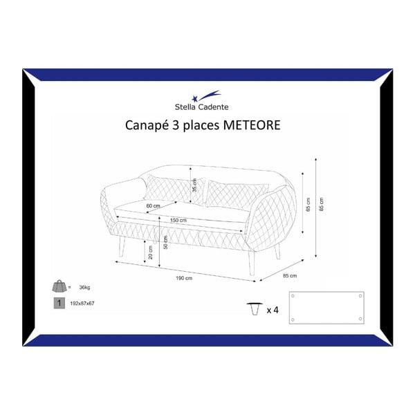 Meteore szürke háromszemélyes kanapé - Scandi by Stella Cadente Maison
