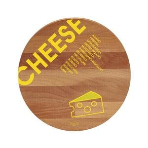 Cheese bükkfa tálalódeszka/vágódeszka, 30 cm - Bisetti