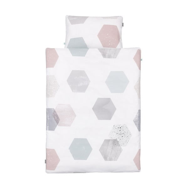 Hexagons gyerek pamut ágyneműhuzat garnitúra, 100x135cm - Mumla
