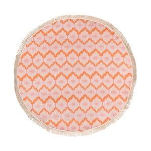 Ripple narancssárga hammam fürdőlepedő pamutból és bambuszrostból, ⌀ 150 cm - Begonville